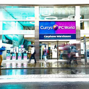 Dixons 3-in-1 flagship Currys, PC World and Carphone Warehouse shop on Oxford Street, London