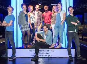 The cast of 'Much Ado About Nothing' at the Selfridges Shakespeare Refashioned Theatre