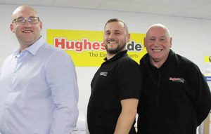 The Hughes Trade team in Leeds, left to right, David Wild, David Bower & Jeffrey Waites