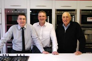 Happier days: ERT visited Gas Superstore for a profile in 2013. Left to right are Mark, Paul and Raymond Fenn