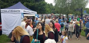 Dacombes of Wimborne stand at the Wimborne Folk Festival