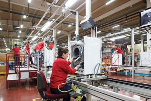Part of Vestel production line in Manisa