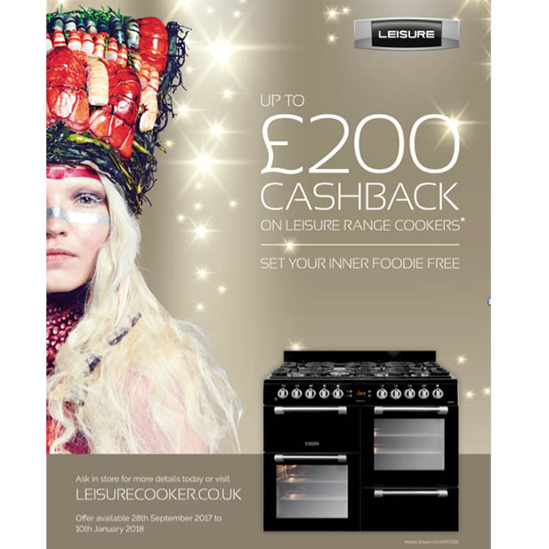 Leisure offers cash-back promo for range cookers