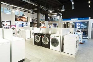 The new store has given over much more space for major appliance displays